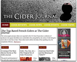 Screenshot of Cider Journal blog